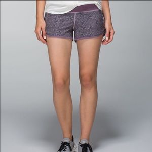 Lululemon Run Speed Short 4-way Stretch Dottie Mum